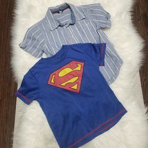 Gap | Boys Shirt Set 2 Button Down Superman Size 5
